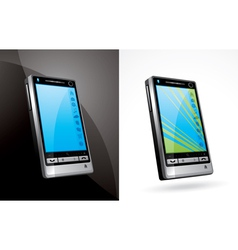 touchscreen phone vector image vector image