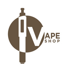 Vape shop logo vector