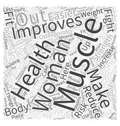 women fitness Word Cloud Concept vector image vector image