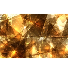 Grunge crystal composition vector