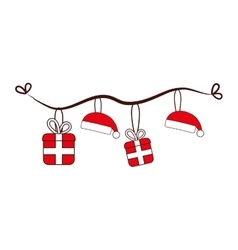 merry christmas decoration hanging vector image