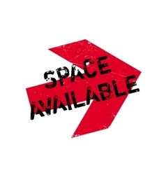 Space available rubber stamp vector