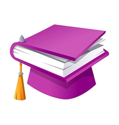 icon book and graduation vector image