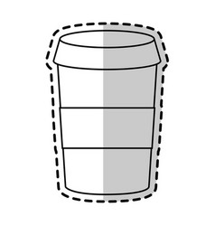 coffee disposable cup icon image vector image