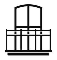 Wide balcony icon simple style vector