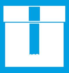 Box icon white vector