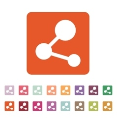 The share icon network symbol flat vector