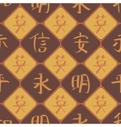 Seamless background with chinese hieroglyphs vector