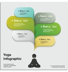 Yoga healthy lifestyle infographic vector