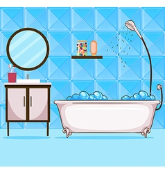 Bathroom with bathtub and shower vector