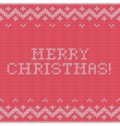 Card of merry christmas 2016 with knitted texture vector