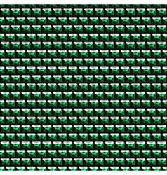 Abstract symmetrical background with little green vector