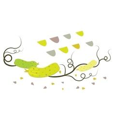 vintage cucumbers vector image