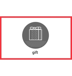 Gift box contour outline vector