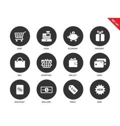 Shopping icons on white background vector image