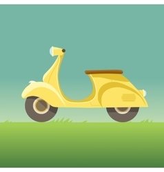 Flat design scooter icon vector