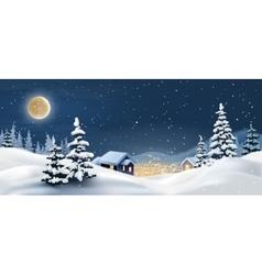 A winter landscape vector