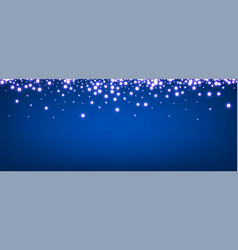 abstract christmas blue luminous banner vector image