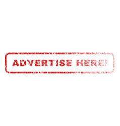 Advertise here exclamation rubber stamp vector