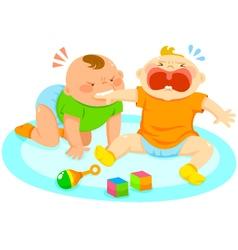 biting baby vector image