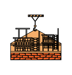 brick and scaffold vector image vector image