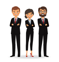 business people in business suits vector image vector image