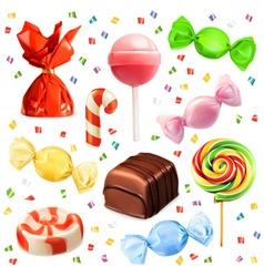 Candy set icons vector image vector image