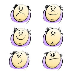 cartoon emotions vector image vector image