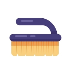 Cleaning service flat brush fetlock icon vector