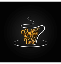 coffee cup sign design background vector image vector image