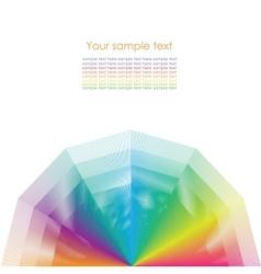 Color wheel background vector image vector image