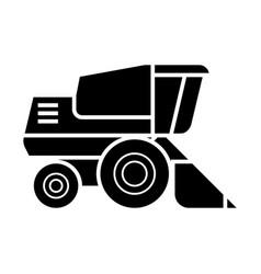 combine harvester icon sig vector image