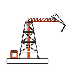 Crane hook construction icon image vector