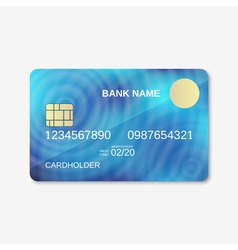 Credit card design template vector image vector image