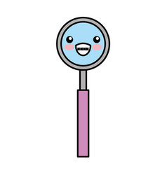 Dentistry mirror kawaii character vector