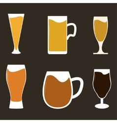 Different types of beer vector image