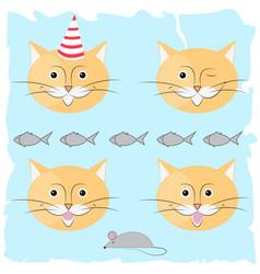 Festive cat vector