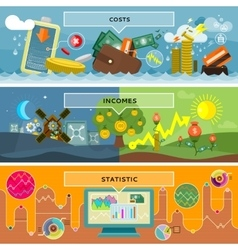 Finance statistic costs and incomes vector