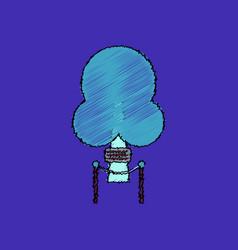 Flat shading style icon chimney-stalk vector