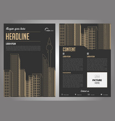 Flyer corporate business annual report brochure vector