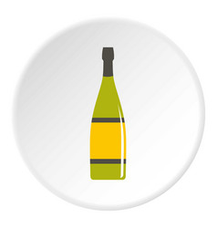 Glass bottle icon circle vector