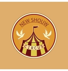 Hand drawn circus lable vector image vector image