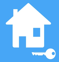 Icon house with a key vector