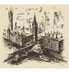 London England vintage hand drawn sketch vector image vector image