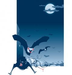 poster bat vector image