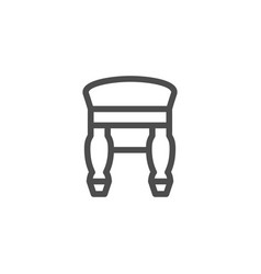 retro backless stool line icon vector image