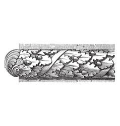 Roman astragal roman ovolo molding vintage vector