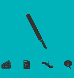scalpel icon flat vector image