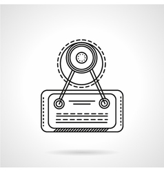 Signboard line icon vector image
