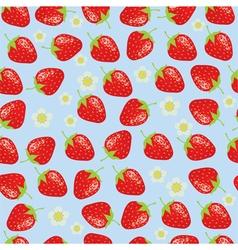 Strawberries background vector